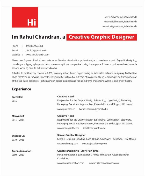 graphic designer resume pdf elegant in design template senior sample samples for Resume Senior Graphic Designer Resume Sample