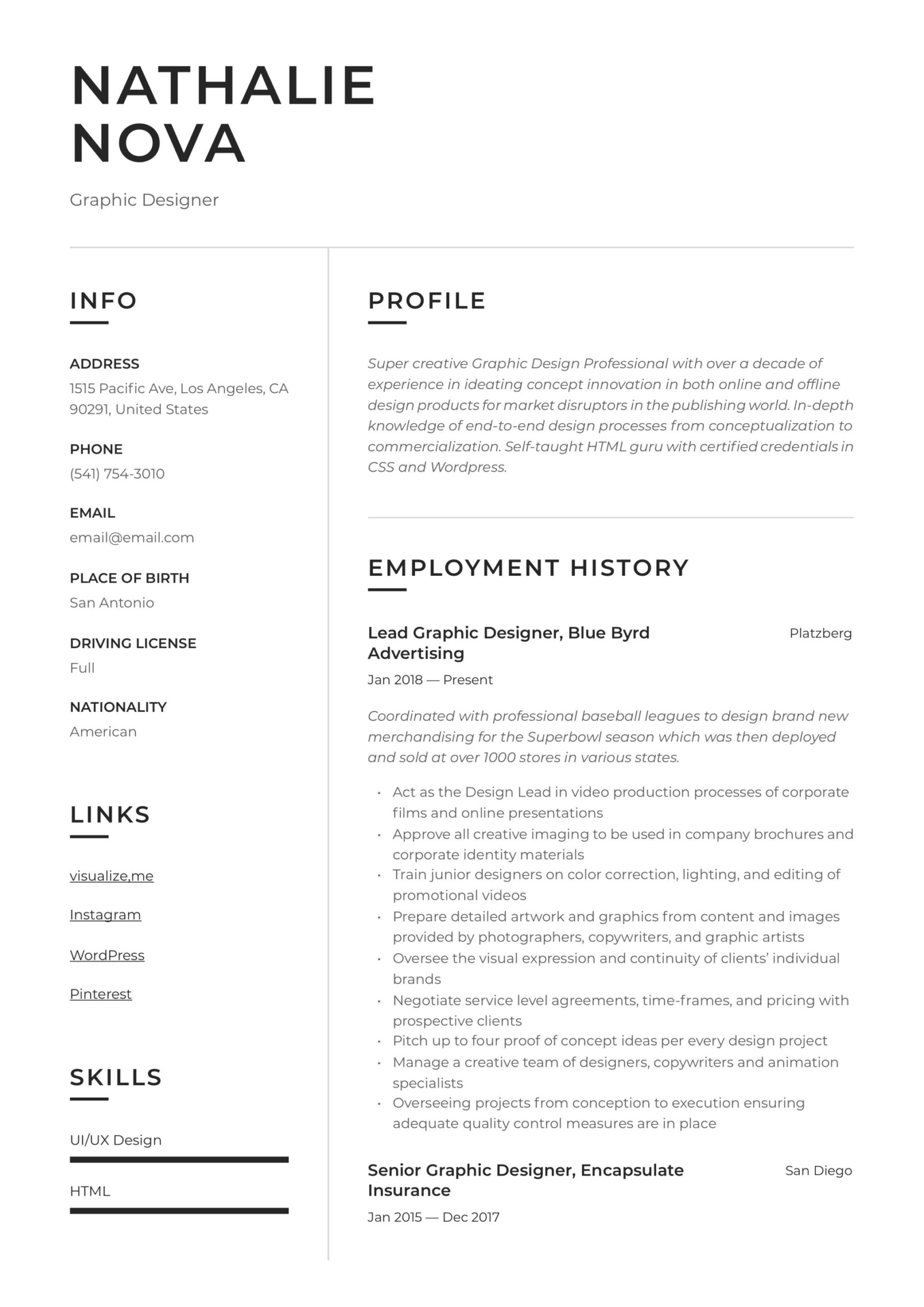 graphic designer resume writing guide examples freelance design open office templates Resume Freelance Graphic Design Resume