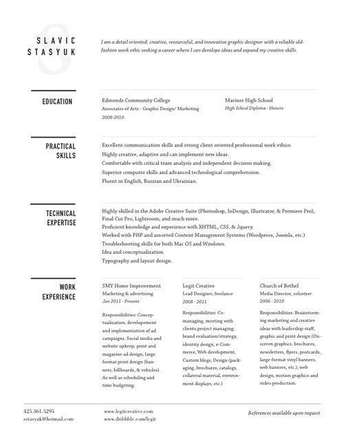 great examples of creative cv resume design bashooka graphic skills for companion login Resume Creative Skills For Resume