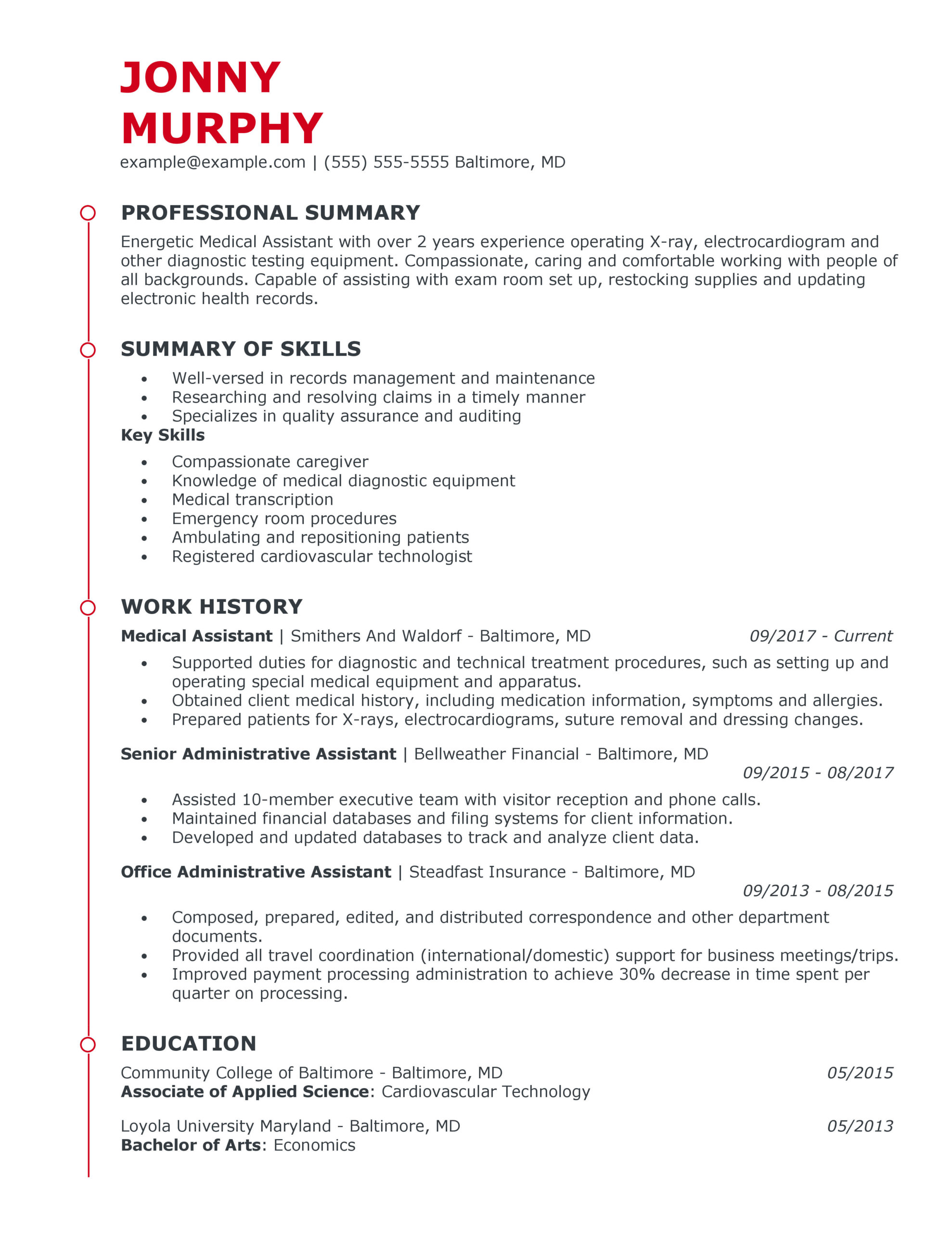 great healthcare support resume examples for myperfectresume track and field sample Resume Track And Field Resume Sample