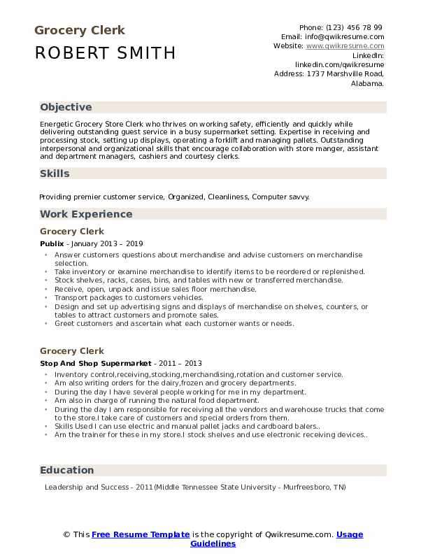 grocery clerk resume samples qwikresume sample pdf private equity lpn clinical experience Resume Grocery Clerk Resume Sample