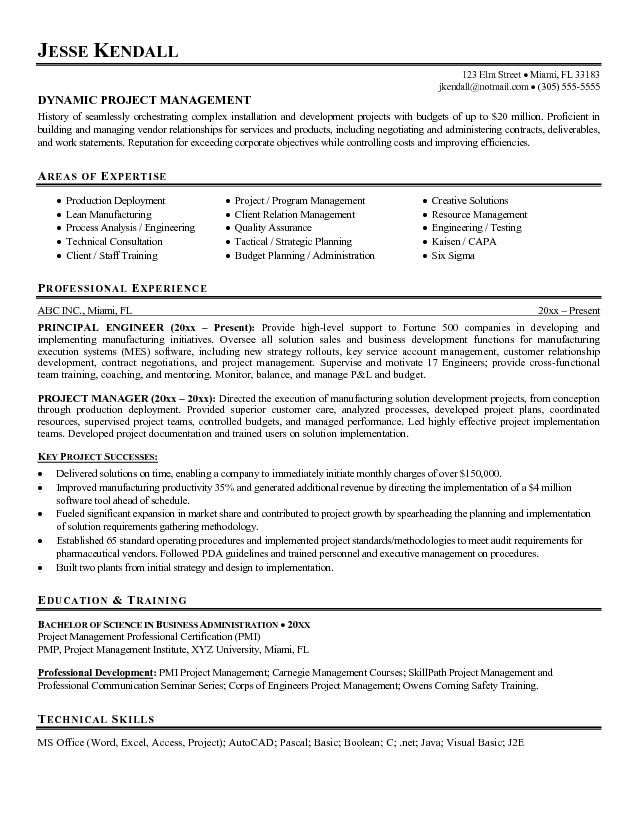 guerrilla resume profile examples google search project manager objective statement Resume Technical Program Manager Resume Examples