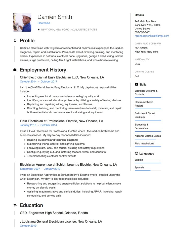 guide electrician resume samples examples pdf word template microsoft quality checker job Resume Electrician Resume Template Microsoft Word