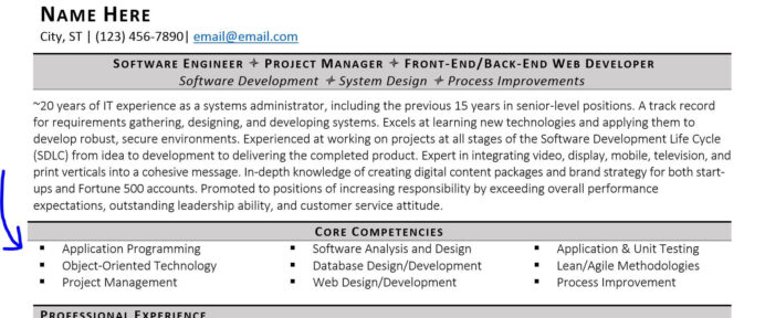 guide to technical skills on your resume listing technology core competencies security Resume Listing Technology Skills On Resume
