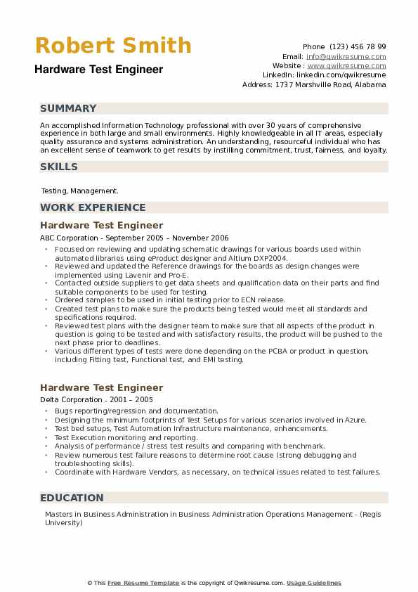 hardware test engineer resume samples qwikresume lte pdf professional summary for retail Resume Lte Test Engineer Resume