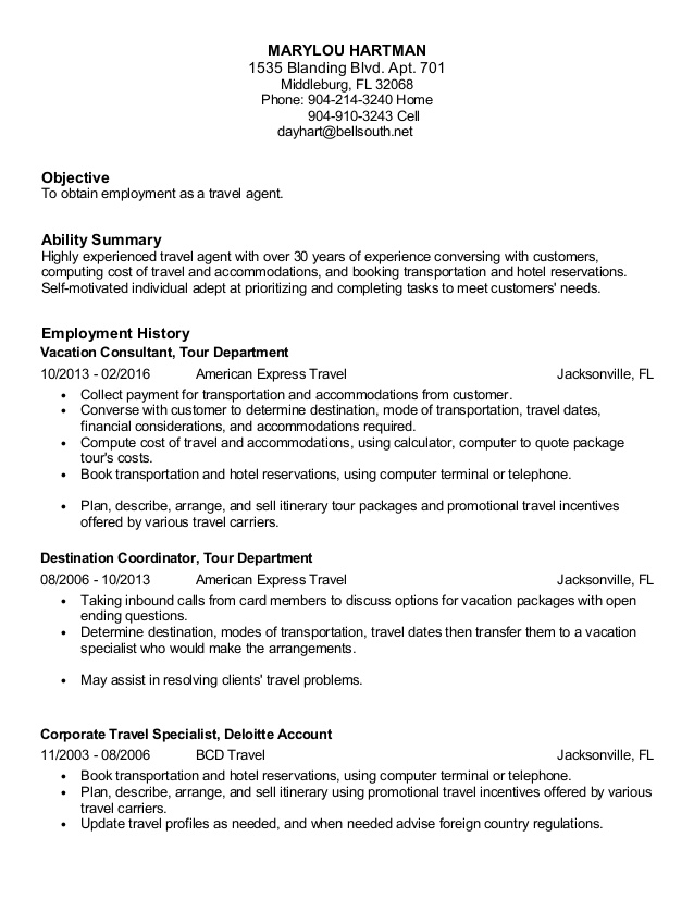 hartman travel agent resume summary carpenter sample computer literate calling after Resume Travel Agent Resume Summary