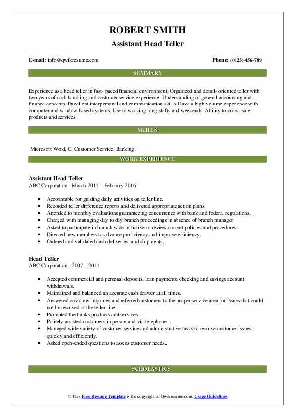head resume samples qwikresume objective pdf high school examples and writing tips Resume Head Teller Resume Objective