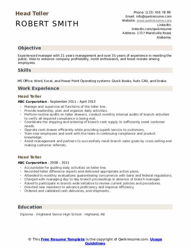 head resume samples qwikresume objective pdf oracle services san antonio marriage and Resume Head Teller Resume Objective