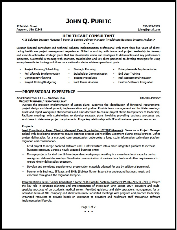 healthcare consultant resume sample the clinic consultation services consulting01 pg1 Resume Resume Consultation Services
