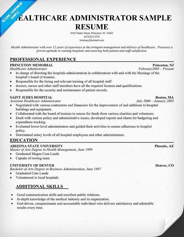 healthcare management resume examples best of pin by panion on samples across all indu in Resume Healthcare Management Resume