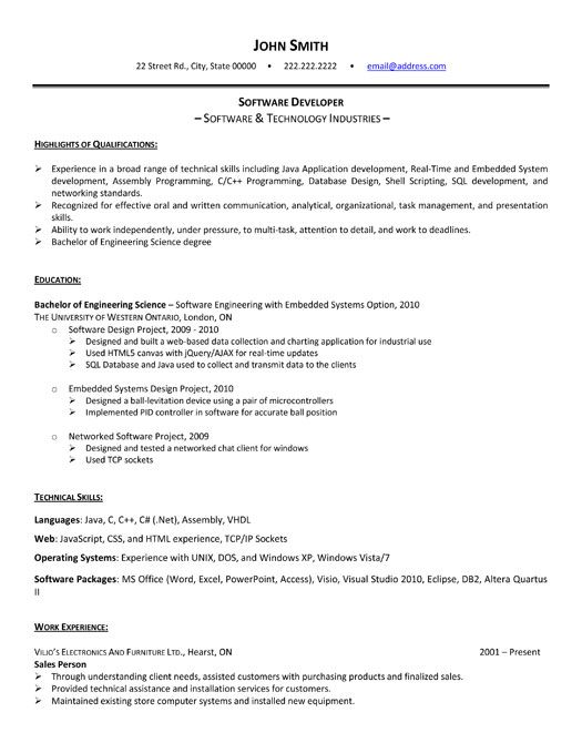 hey software developers looking to get some experience while you re still in school our Resume Software Engineer Intern Resume