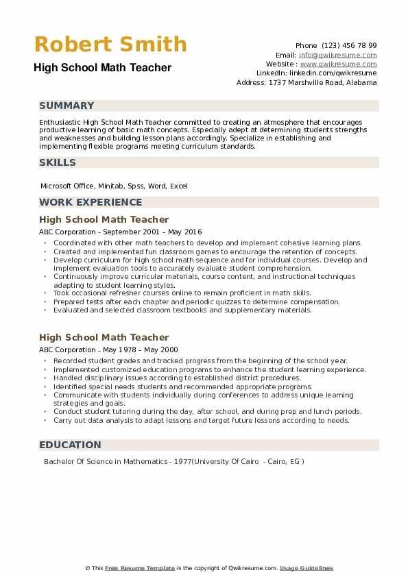 high school math teacher resume samples qwikresume student summary pdf with research Resume High School Student Resume Summary