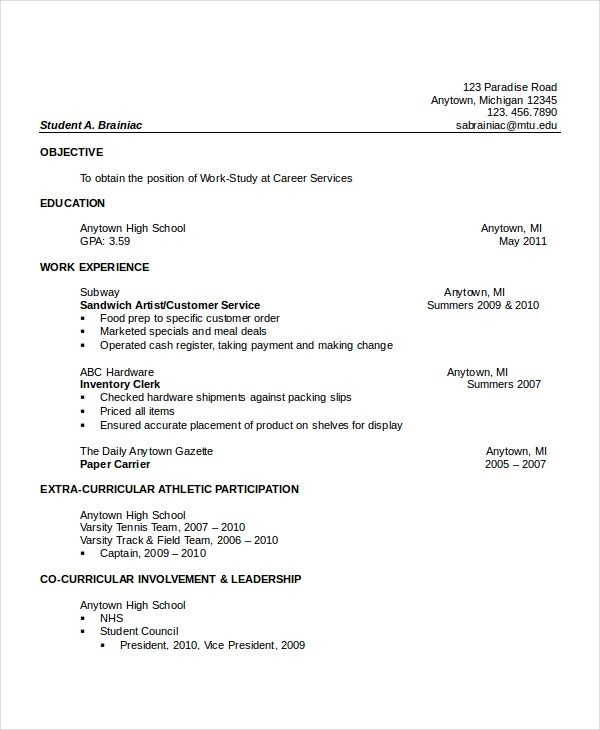 high school resume templates examples samples format free premium activities and honors Resume Activities And Honors Resume Sample