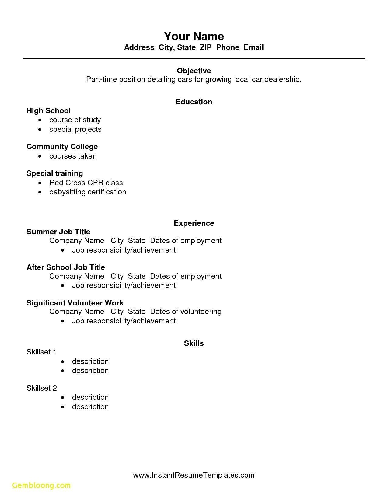 high school student academic resume template secrets you not want to know about first job Resume A Job Resume For High School Students