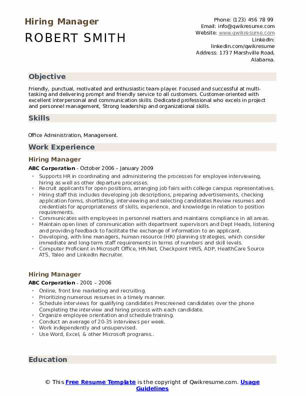 hiring manager resume samples qwikresume job description for pdf fraternity on writing Resume Hiring Manager Job Description For Resume