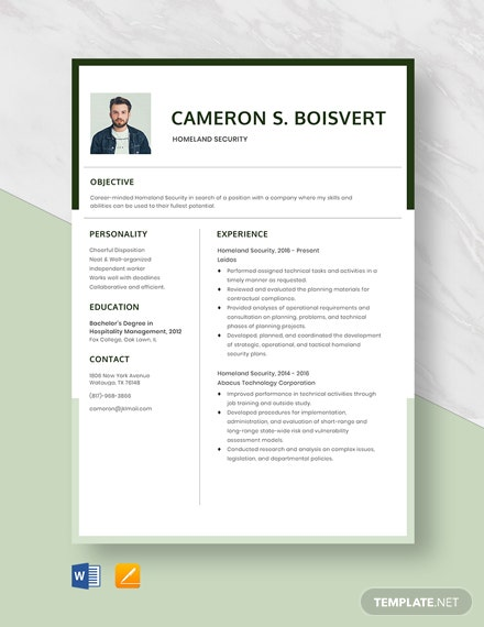 homeland security resume template resumes in microsoft word apple skills can put on Resume Homeland Security Resume