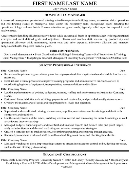 hospitality manager resume sample template samples mg japanese example army skills good Resume Hospitality Resume Samples
