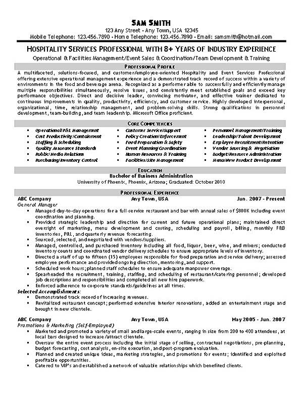hospitality resume example samples hospitality1 help login applicant tracking system test Resume Hospitality Resume Samples