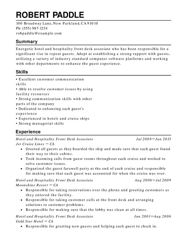 hotel hospitality chronological resume samples examples format templates help whats title Resume Hospitality Resume Samples