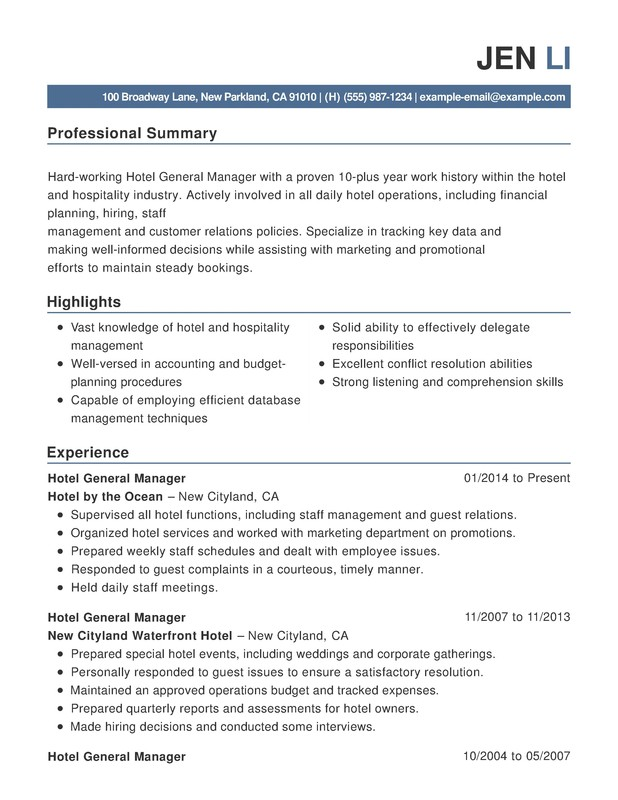 hotel hospitality combination resume samples examples format templates help health unit Resume Hospitality Resume Samples