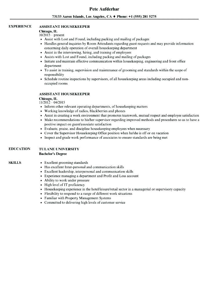 housekeeping resume sample best examples hospital skills trade finance for property and Resume Hospital Housekeeping Resume Skills