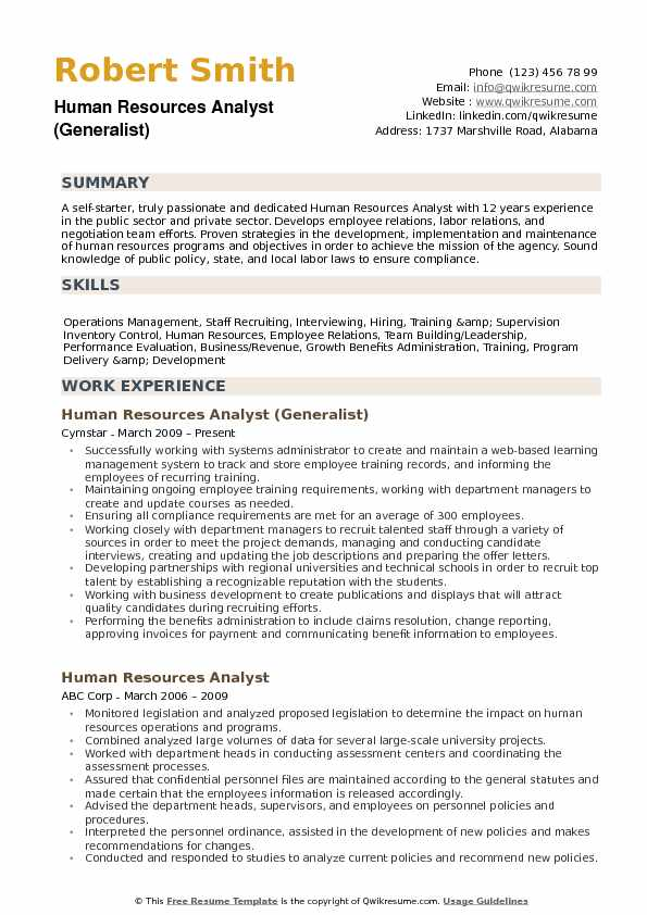 human resources analyst resume samples qwikresume pdf firefighter template pmo fresher Resume Human Resources Analyst Resume