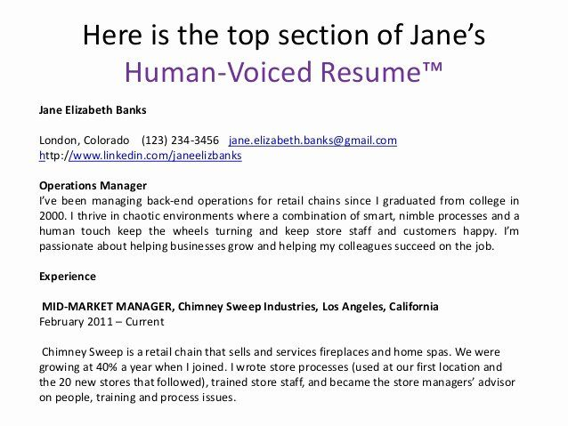 human voiced resume example unique here is the top section in examples teacher vp Resume Human Voiced Resume Example