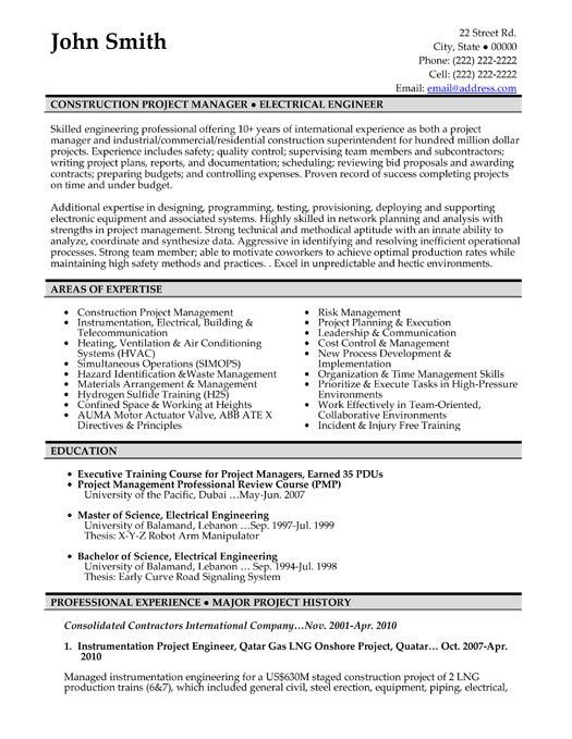 image result for construction supervisor resume pdf project manager engineering civil Resume Civil Project Manager Resume