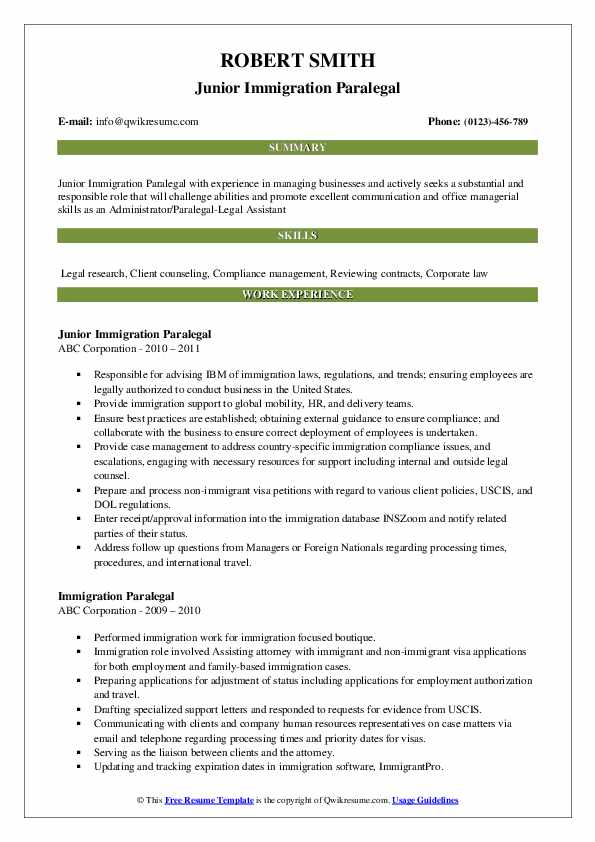 immigration paralegal resume samples qwikresume job description pdf construction clean up Resume Immigration Paralegal Job Description Resume