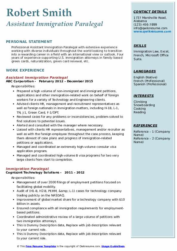 immigration paralegal resume samples qwikresume job description pdf score test general Resume Immigration Paralegal Job Description Resume