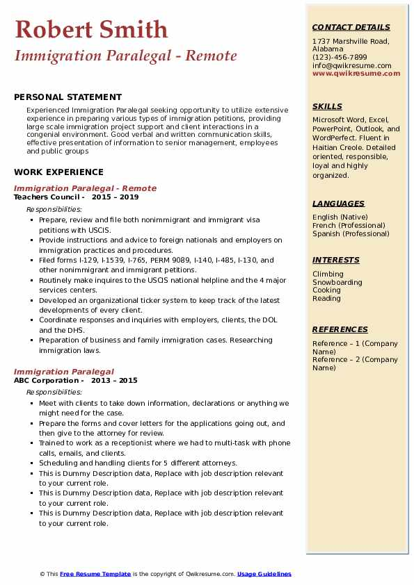 immigration paralegal resume samples qwikresume job description pdf score test summary Resume Immigration Paralegal Job Description Resume