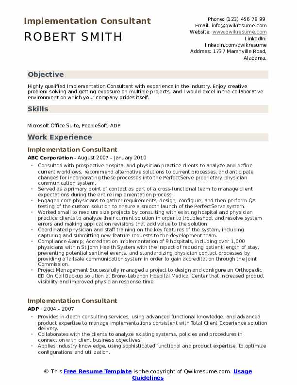 implementation consultant resume samples qwikresume consulting specific pdf for assistant Resume Consulting Specific Resume