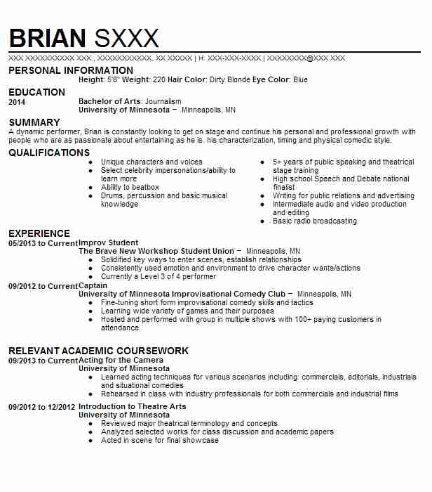 improv comedy troupe member resume example the new movement theater waco comedian Resume Comedian Resume Example