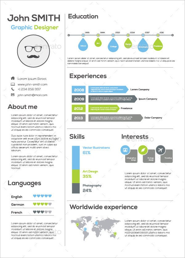 infographic resume templates free sample example format premium simple template for Resume Simple Infographic Resume Template