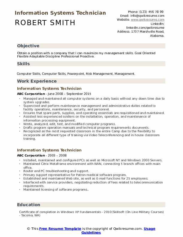 information systems technician resume samples qwikresume flexible and adaptable pdf Resume Flexible And Adaptable Resume