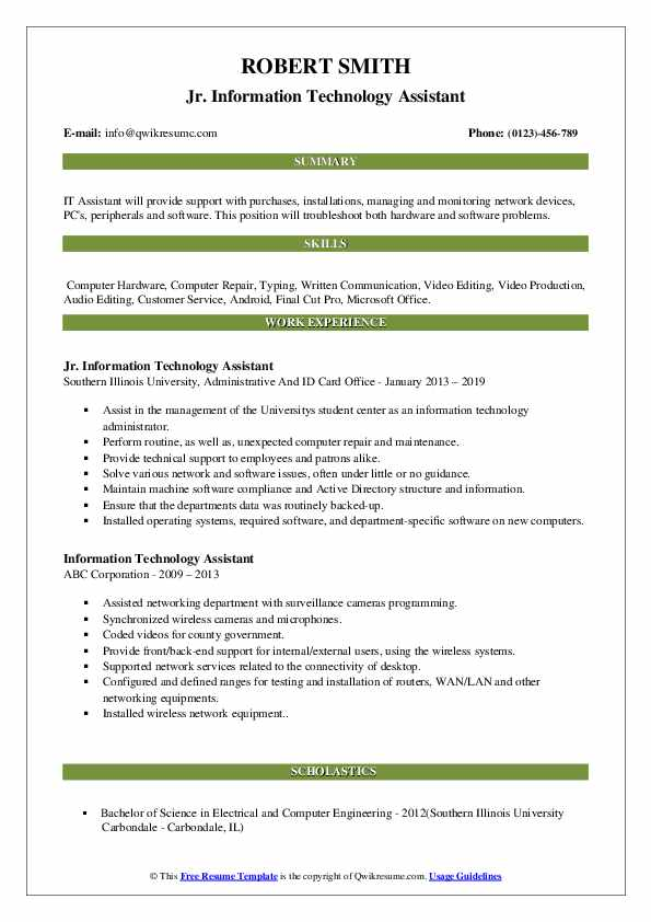 information technology assistant resume samples qwikresume examples pdf free emt Resume Information Technology Resume Examples 2019