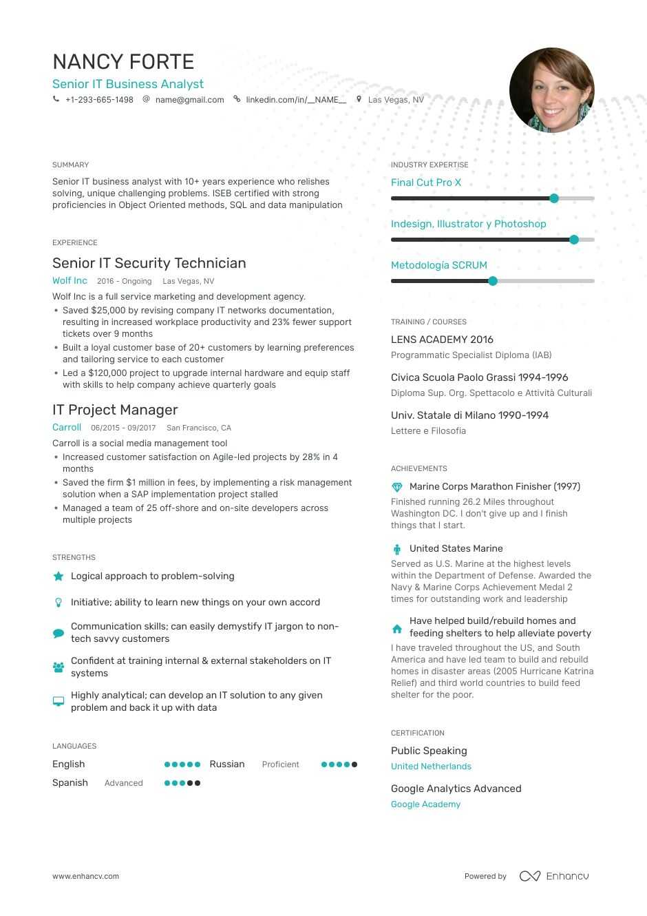 information technology resume examples do and don ts for enhancv it flight attendant Resume Information Technology Resume Examples 2019