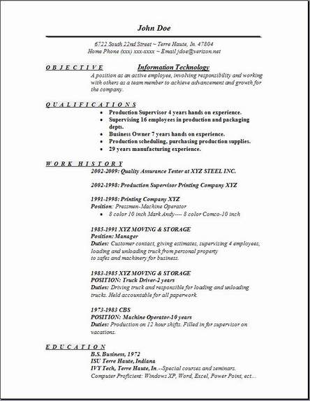 information technology resume occupational examples samples free edit with word Resume Information Technology Objectives And Goals Resume