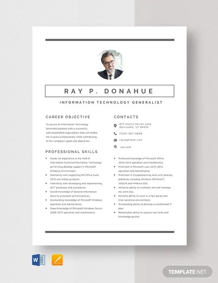 information technology resume templates pdf free premium objectives and goals generalist Resume Information Technology Objectives And Goals Resume