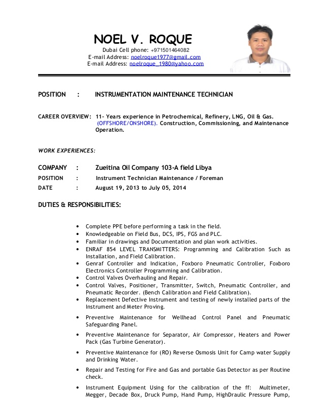 instrument technician for maintenance new resume examples upload template essentials of Resume Instrument Technician Resume
