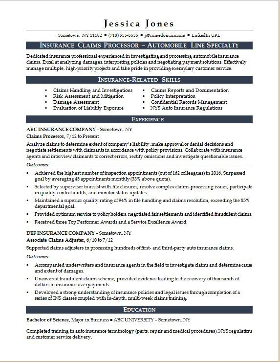 insurance claims processor resume sample monster format for industry procurement analyst Resume Resume Format For Insurance Industry