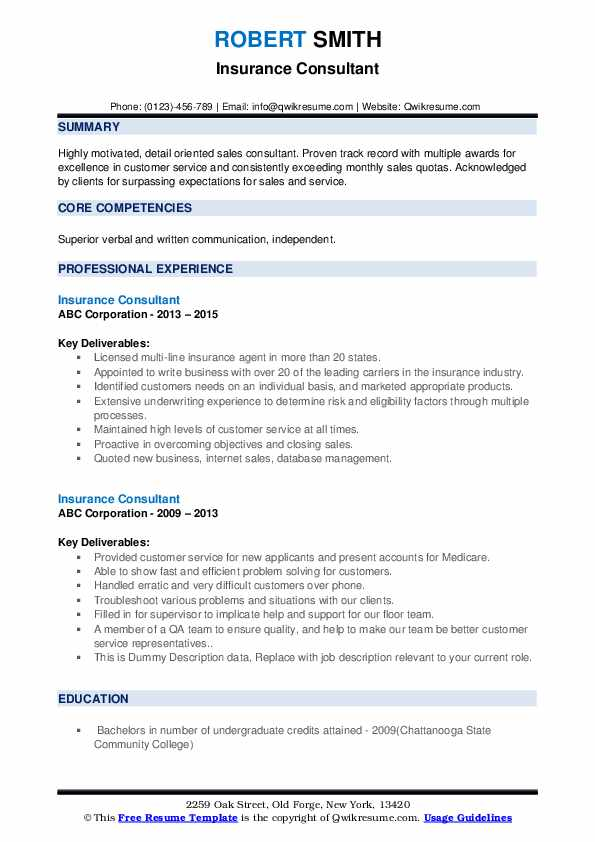 insurance consultant resume samples qwikresume format for industry pdf whats title Resume Resume Format For Insurance Industry