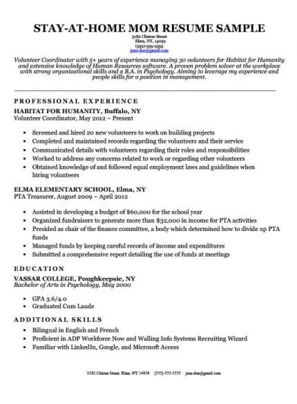 interview getting resume samples by job affirmations writing tips overused words habitat Resume Habitat For Humanity Resume