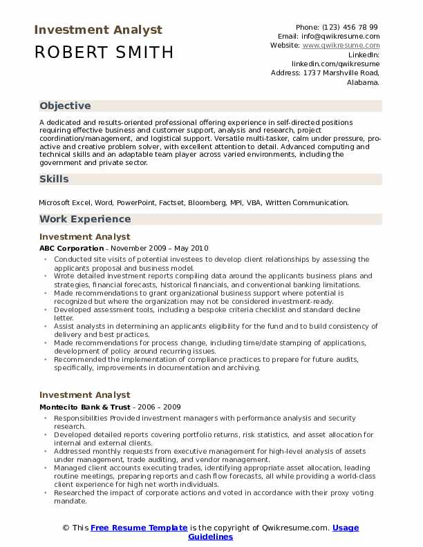 investment analyst resume samples qwikresume pdf typed example the best free builder Resume Investment Analyst Resume