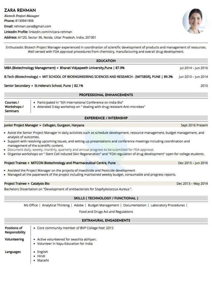 is ats and to make your resume friendly applicant tracking system sample biotechnology Resume Applicant Tracking System Friendly Resume