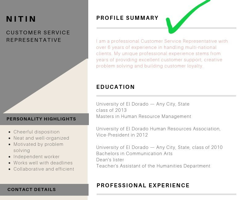 is resume profile summary brief of your background for right placement get professional Resume Brief Summary Of Your Background For Resume