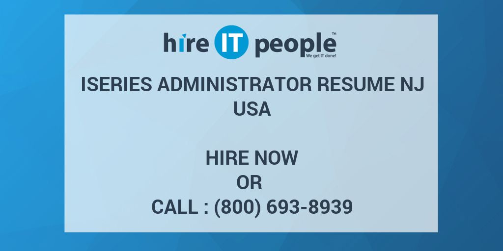 iseries administrator resume nj hire it people we get done as400 makeup artist objective Resume As400 Administrator Resume