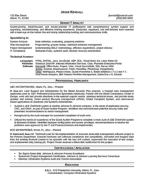 it analyst resume example examples and cover letter for teaching position research Resume Analyst Resume Examples