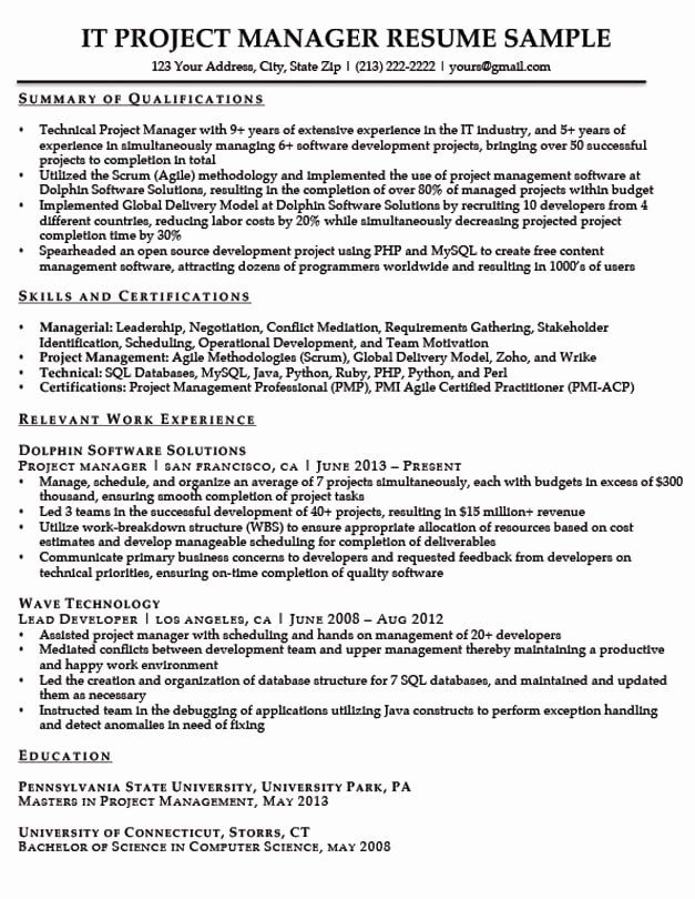 it project manager resume examples new to write summary of qualifications in cpr and Resume Project Manager Resume Summary Examples