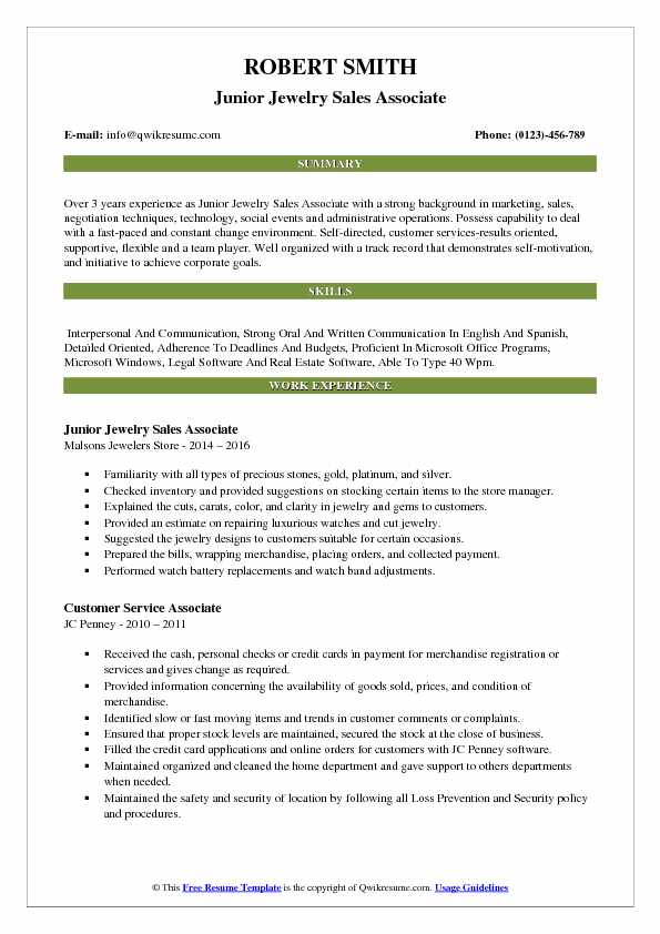 jewelry store manager cv november jcpenney resume examples associate pdf financial Resume Jcpenney Resume Examples